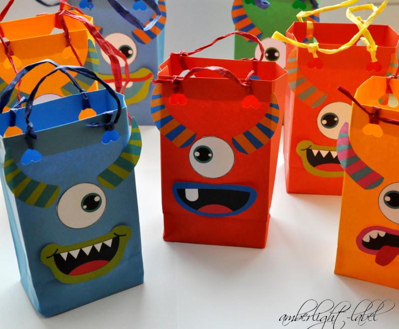 7. Geburtstag: Monsterparty, Monstertüten, Monstertoast