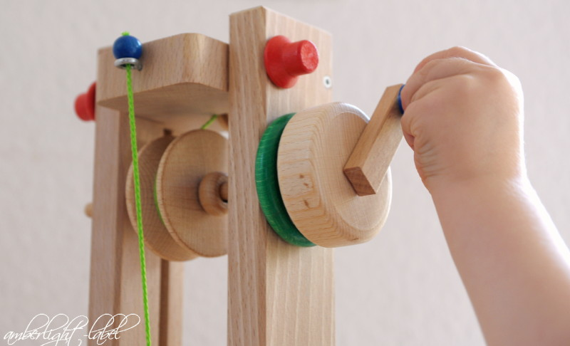 Holzspielzeug: Lift für die Drewa Kugelbahn