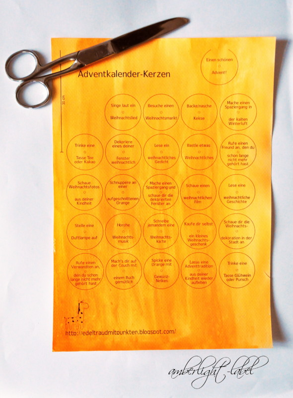 Teelicht-Adventskalender & Wummelkiste