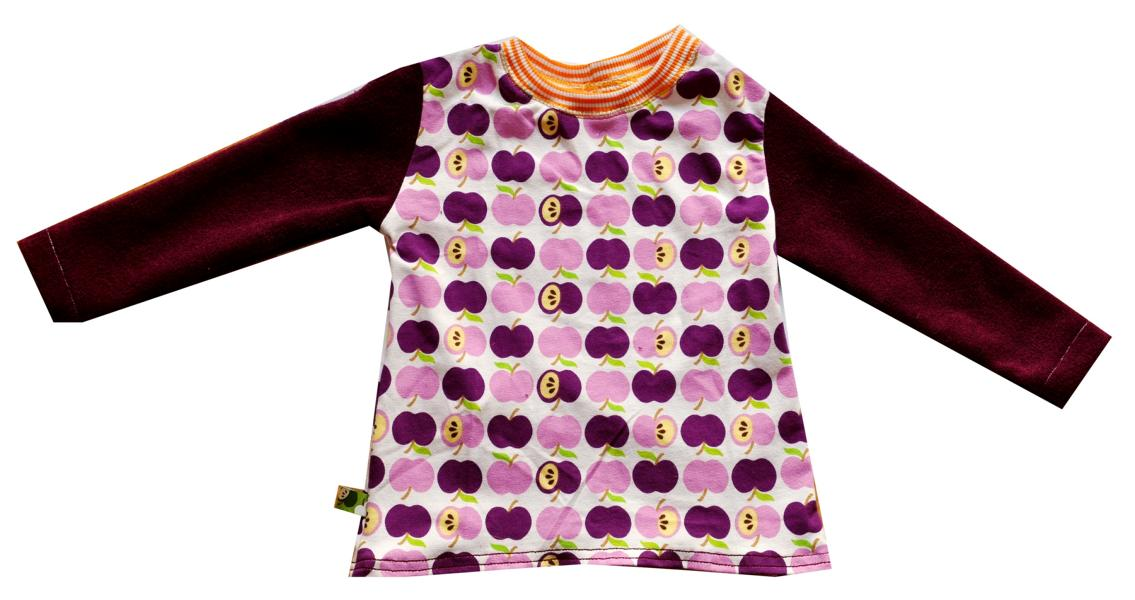 Apfelstoff-Nilpferd-Shirt