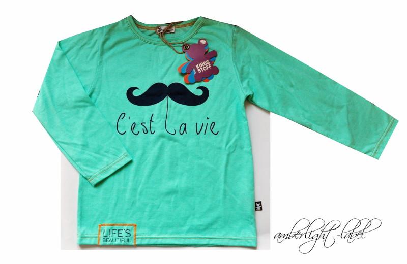 Moustache-Shirt von Kindsstoff