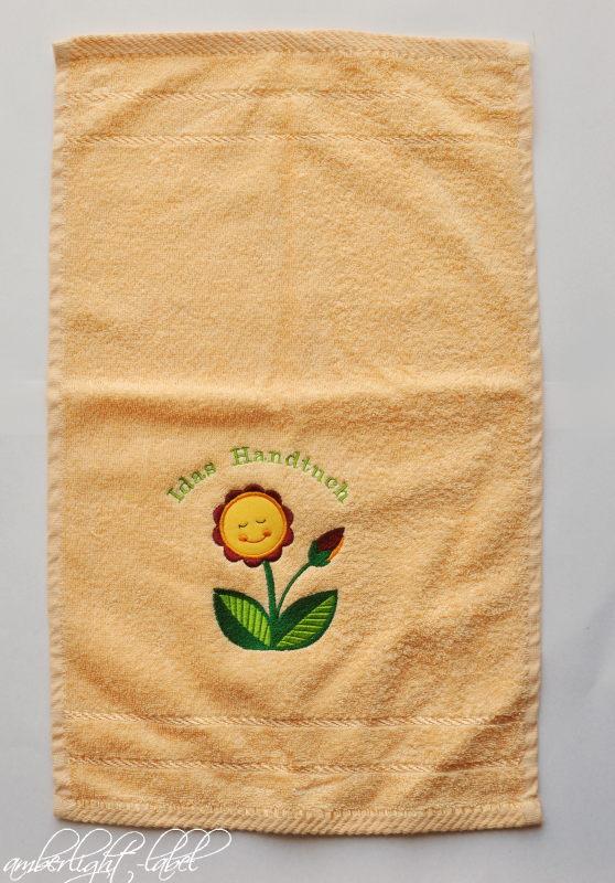 Kindergeburtstag personalisiertes Handtuch