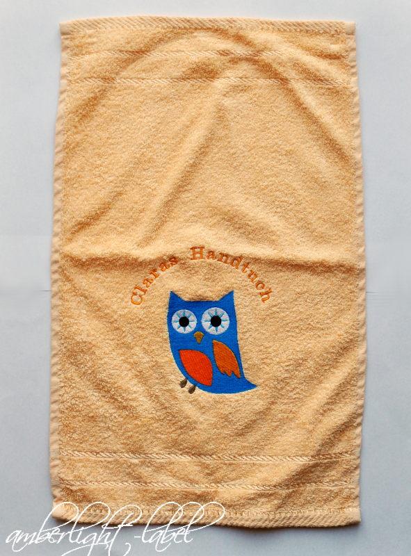 Kindergeburtstag Eulen Handtuch