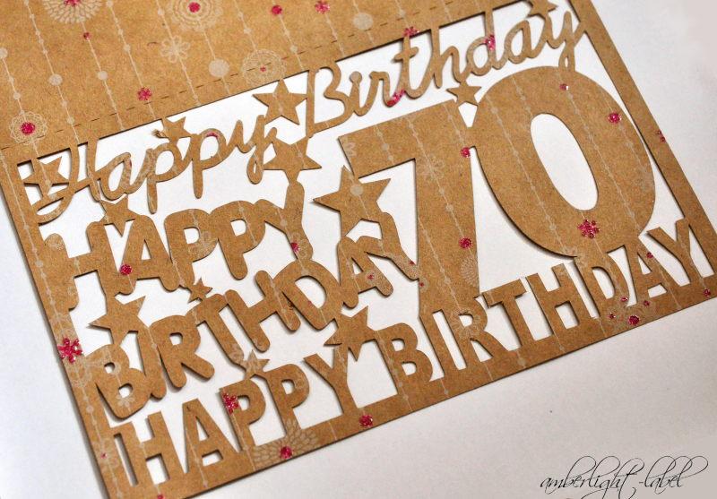 Plotter Glückwunschkarte 70. Geburtstag