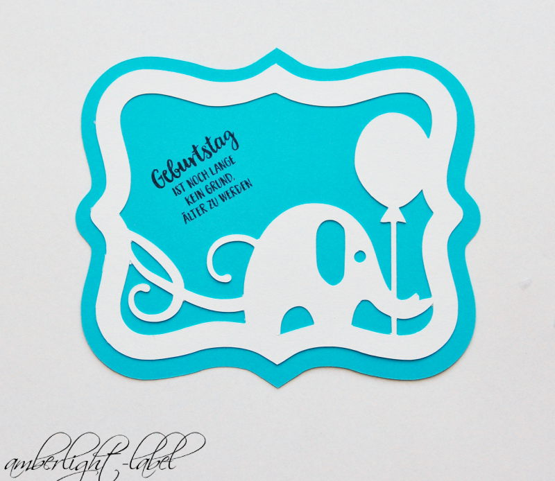 Geburtstagskarte Elefant