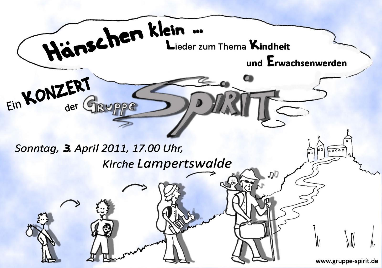 Einladung zum Spirit-Konzert in Lampertswald am 3. April 2011