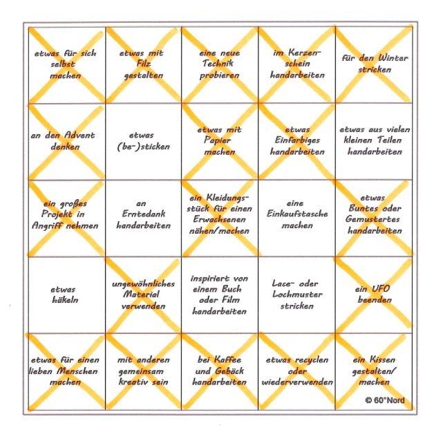 Bingo #HerbstHandarbeitsbingo 2018