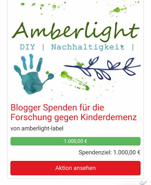 Geschafft: 1000 € Spendenstand NCL Stiftung Kinderdemenz