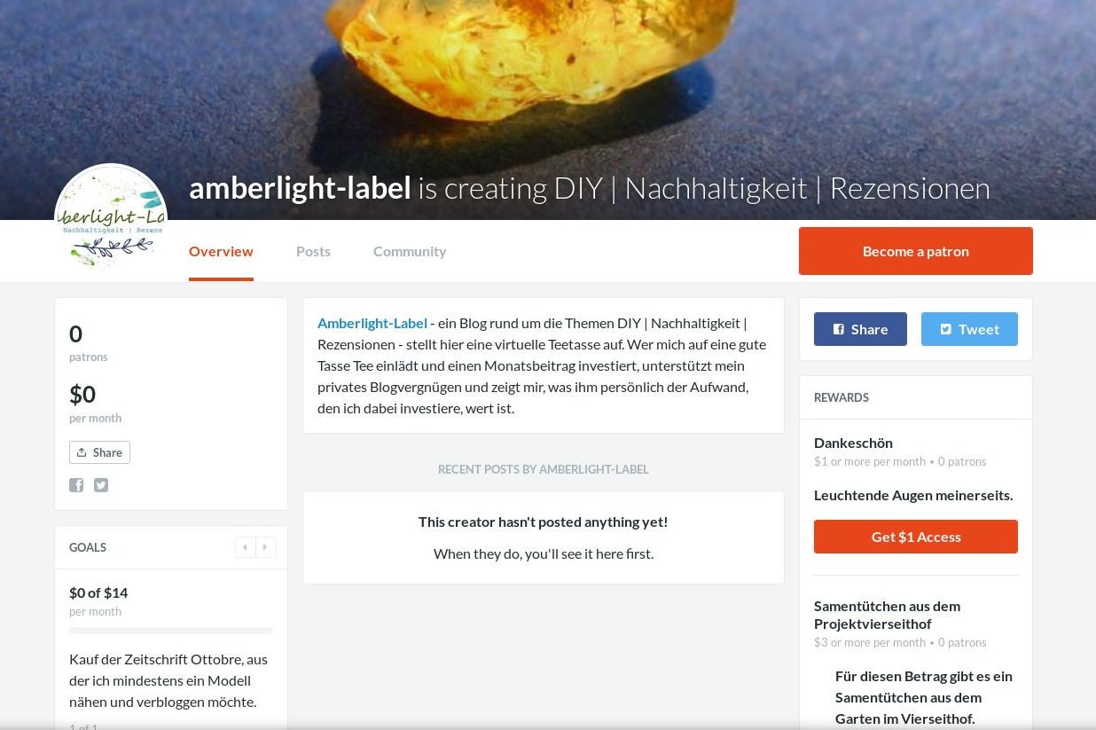Patreon & abgelehnte Blogkooperationen