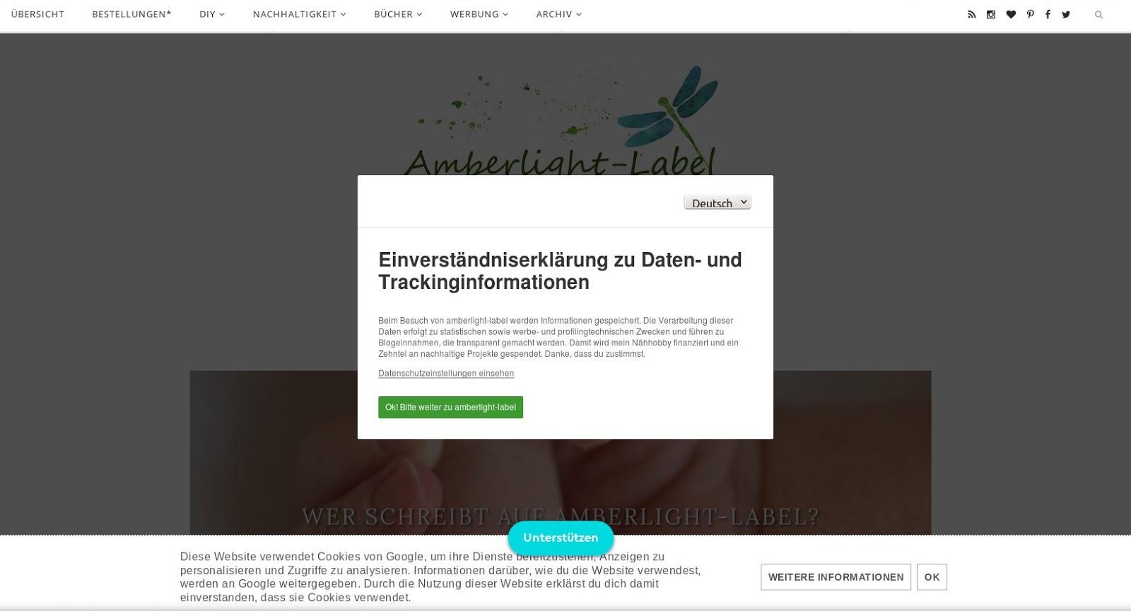 Bloglayout Blogspot DSGVO