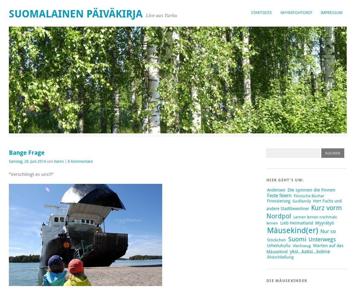Suomalainen Päiväkirja #BlogLeseLiebe