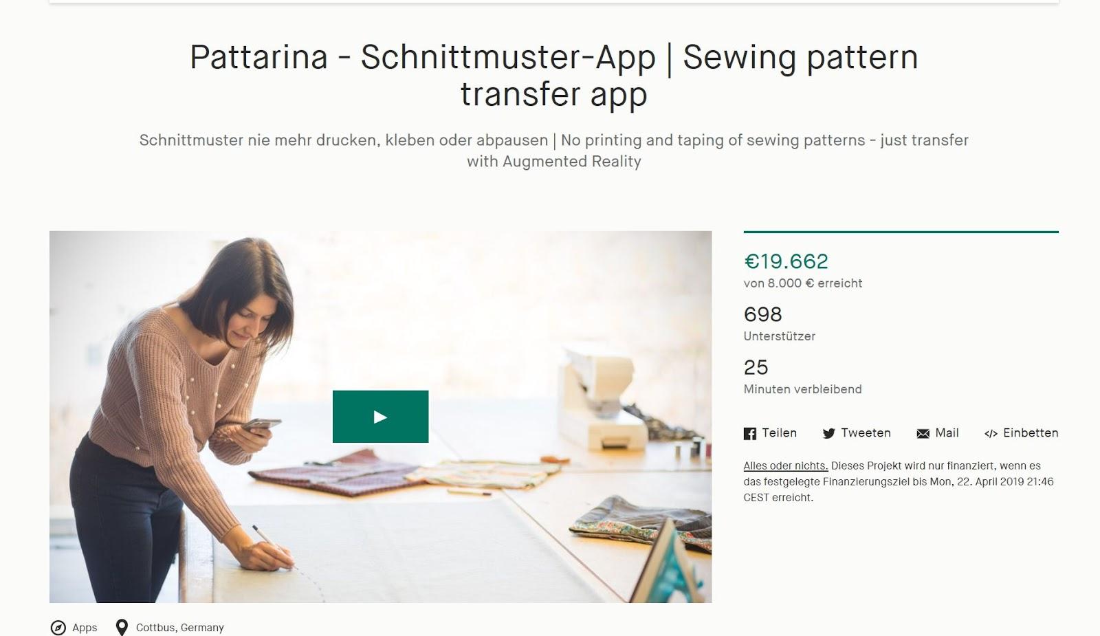 Crowdfunding Pattarina
