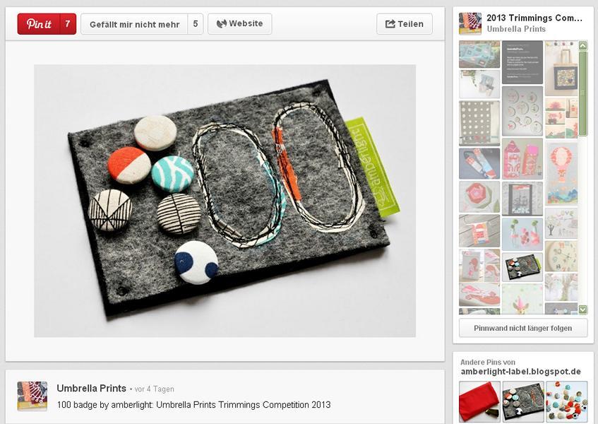 Contest: Trimmings Competition 2013 von Umbrella Prints & Verlängerung DIY-Mitmachaktion Museum