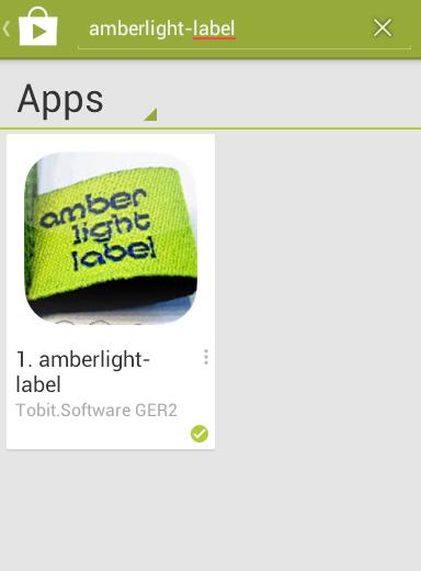 amberlight-label als App!