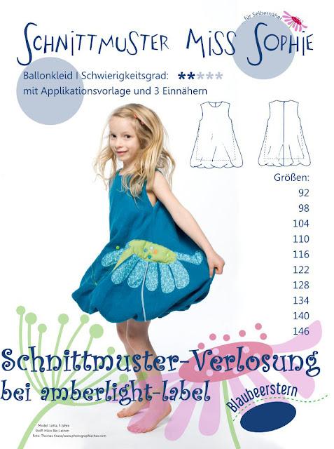 "Schnittmuster ""Miss Sophie"" Auslosung"