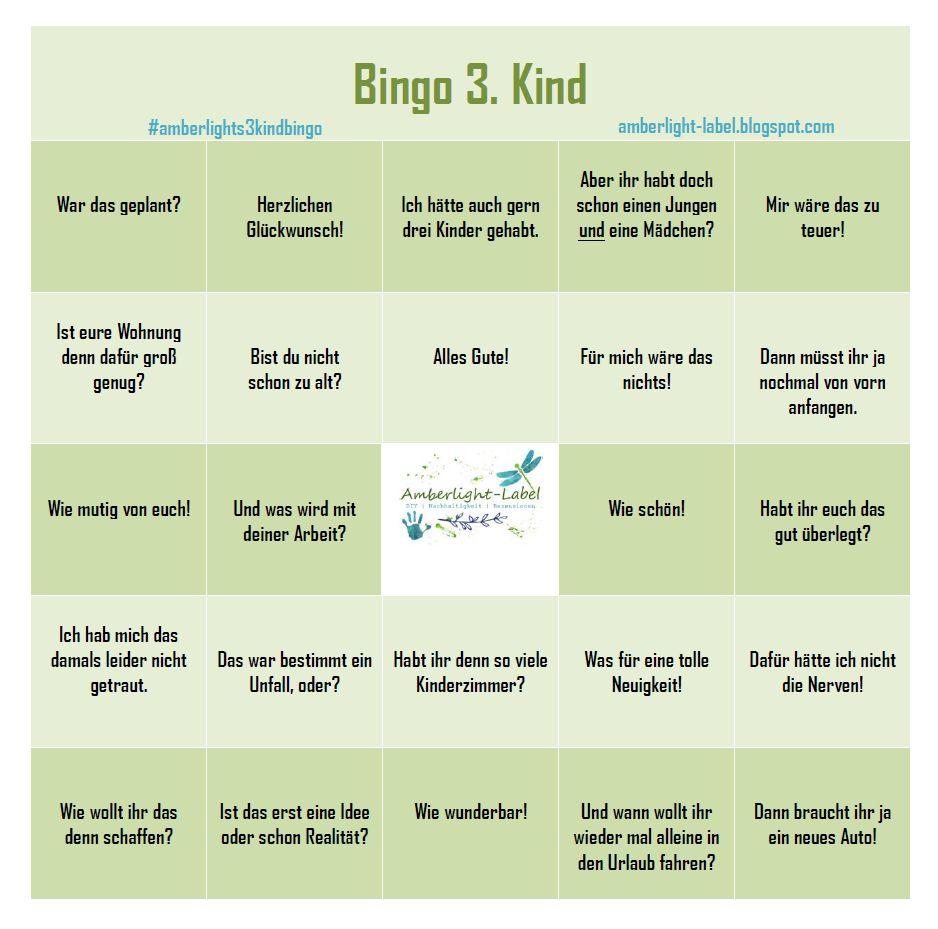 Entscheidung 3. Kind Bingo Freebie