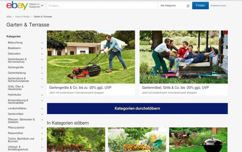 Werbung / Anzeige: eBay Home & Garden