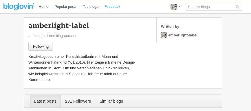 Transparenzbericht 05/2013 & Blogspot Anpassungen
