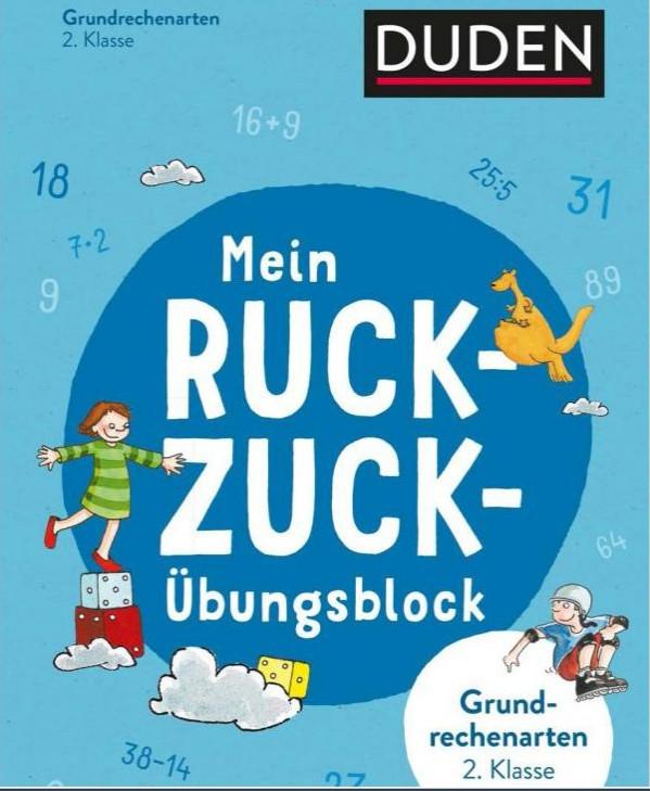 Rezension: Mein Ruckzuck-Übungsblock Grundrechenarten 2. Klasse