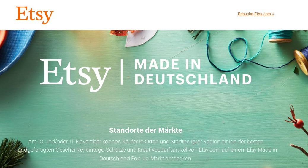 Werbung/Anzeige #EtsyMadeInDeutschland2018 in Leipzig