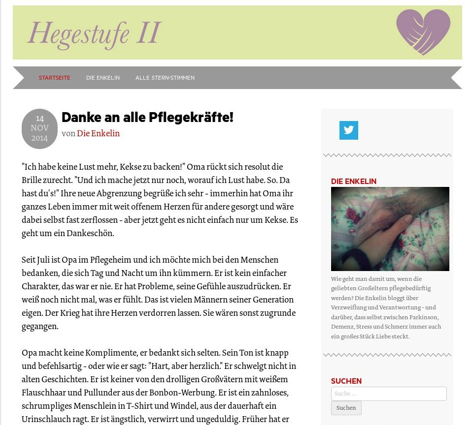 Hegestufe II #Blogleseliebe