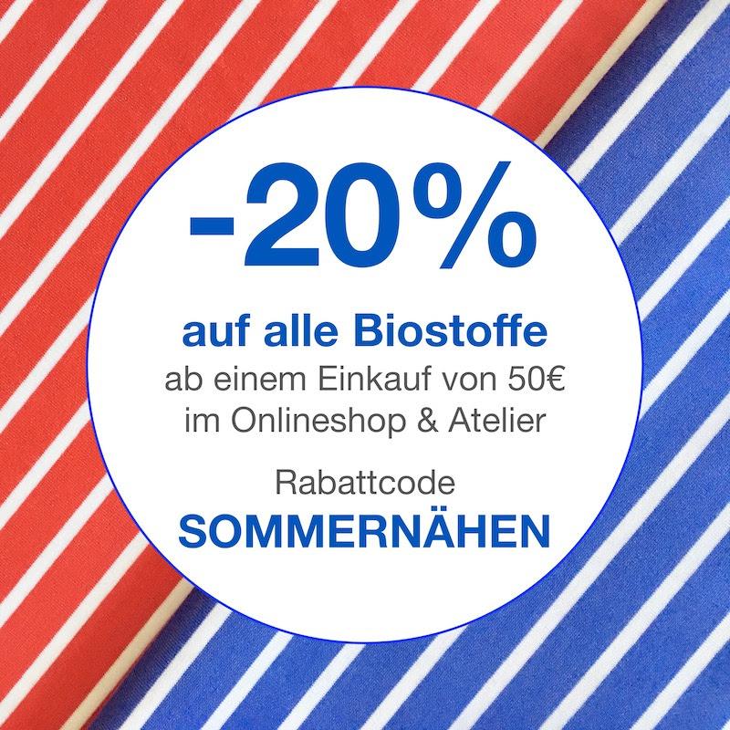 Sommernähen bei Internaht. 20% auf alle Biostoffe &