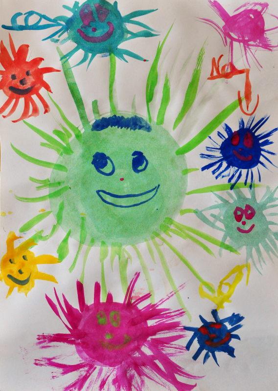 Internationales Kunstprojekt #kidspaintcorona