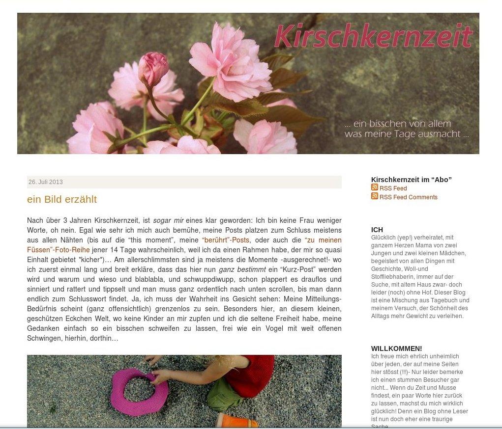 Teil 5 Baby-Pause-Blogvorstellungsinterview: Kirschkernzeit