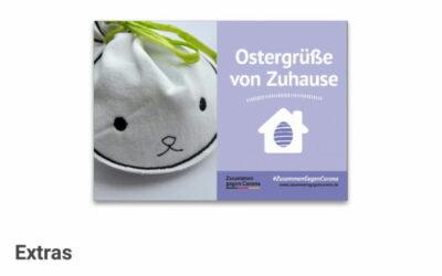 Werbung / Anzeige: MyPostcard #ZusammenGegenCorona kostenfreie Osterpostkarten