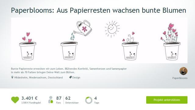 Spenden: Paperblooms & Tomatenretter
