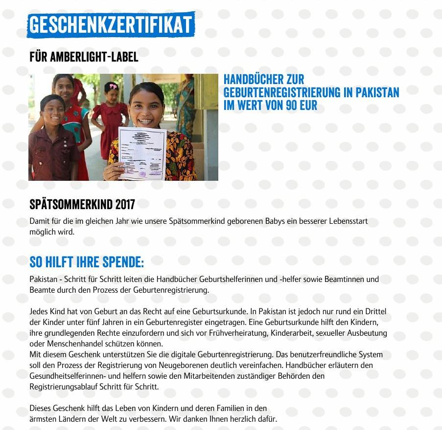 Spende & Crowdfunding: Geburtenregistrierung in Pakistan & Simplimentär