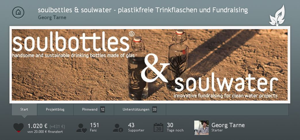 Crowdfunding: soulbottles & soulwater