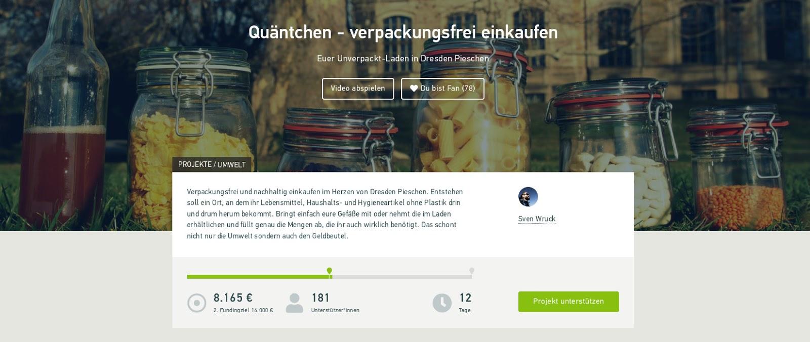 Crowdfunding Quätchen – verpackungsfrei einkaufen