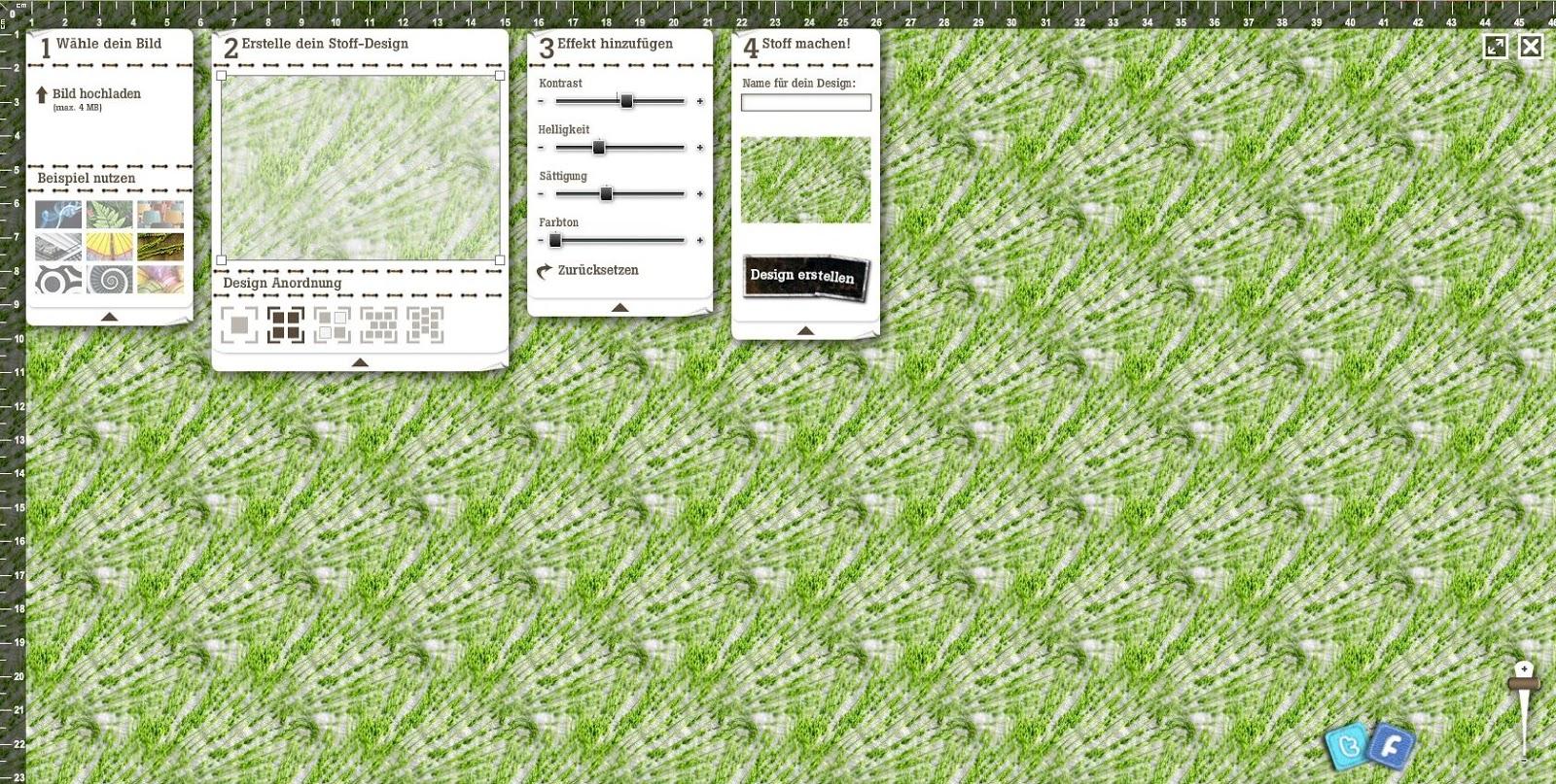 Stoffdesign: Picknickwiese für die Stoffparade