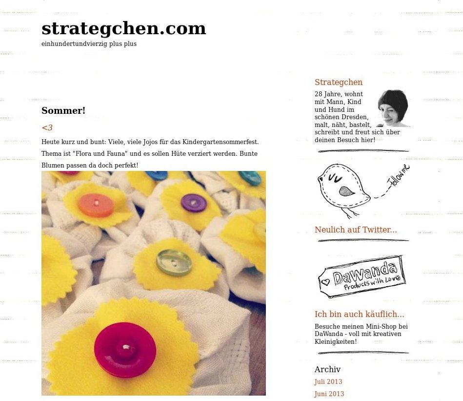 Teil 4 Baby-Pause-Blogvorstellungsinterview: Strategchen