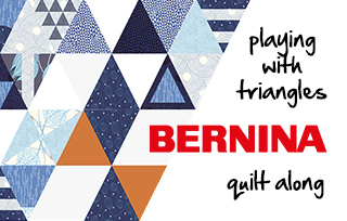 BERNINA & ZEN CHIC Quilt-Along: Playing with Triangles #berninazenchicqal & Nähcamp 2018